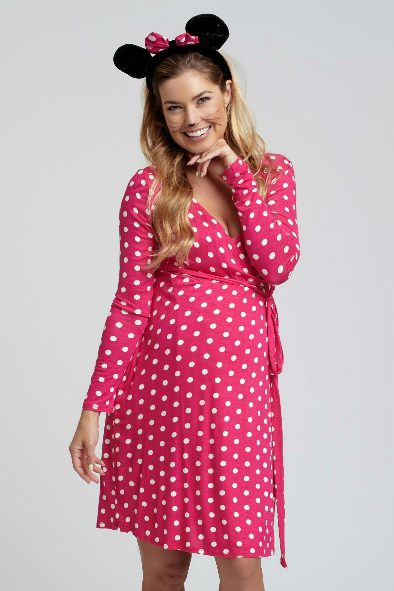 Polka dot maternity dresses 2017 black blue red pink pink polka dot maternity dress ombrellifo Choice Image