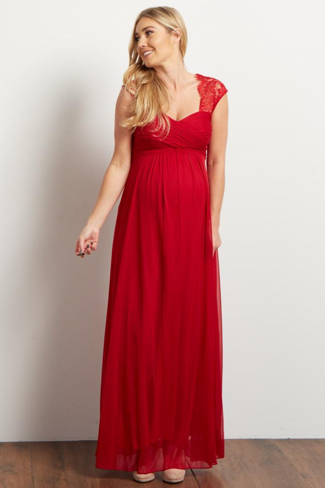 Red Maternity Prom Dresses